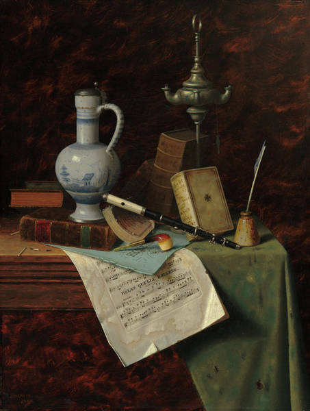 Collapse Painting - My Gems by William Michael Harnett
