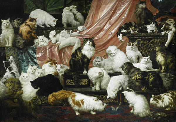 Wall Art - Painting - My Wife's Lovers by Carl Kahler