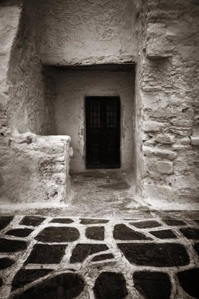 Photograph - Mykonos Building Closeup by Songquan Deng
