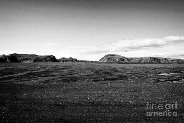 Wall Art - Photograph - Myrdalssandur Black Lava Sand Flats Near Vik Iceland by Joe Fox