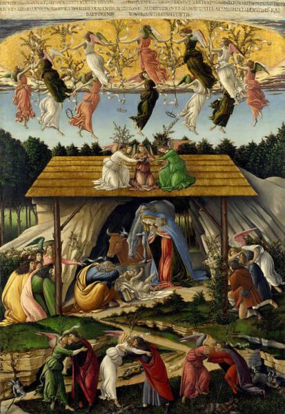 Redeemer Wall Art - Painting - Mystic Nativity by Sandro Botticelli