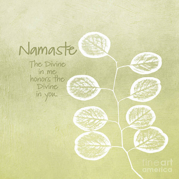 Leafs Wall Art - Mixed Media - Namaste by Linda Woods