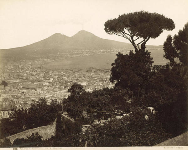 Dock Of The Bay Photograph - Naples: Mt. Vesuvius by Granger