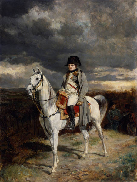 Wall Art - Painting - Napoleon Bonaparte On Horseback by War Is Hell Store