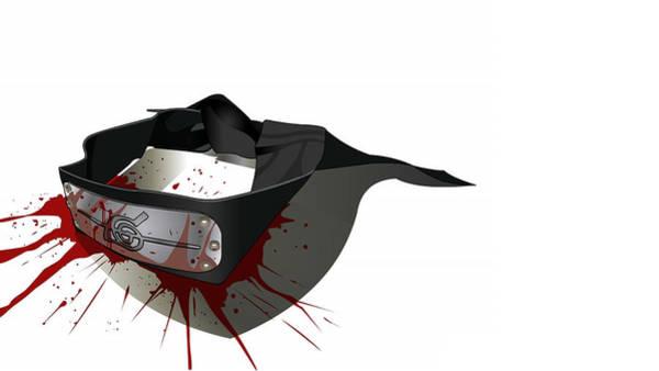Black Digital Art - Naruto by Maye Loeser