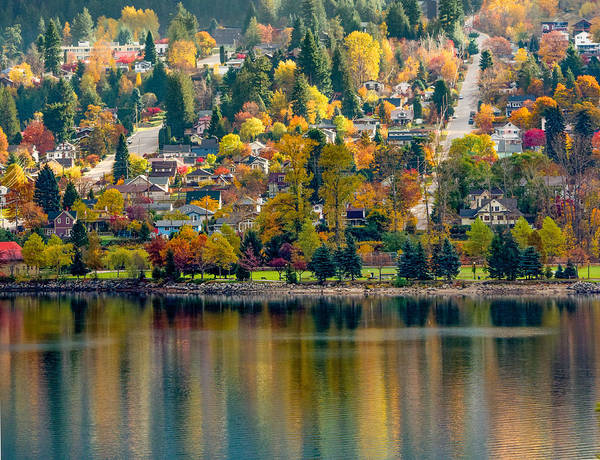 Nelson Bc Photograph - Nelson In The Fall by Joy McAdams