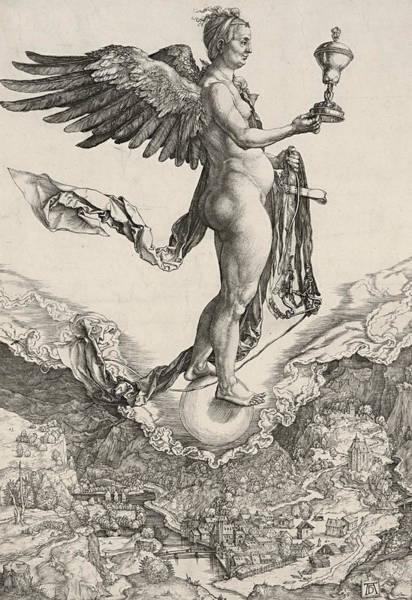Albrecht Durer Wall Art - Relief - Nemesis by Albrecht Durer
