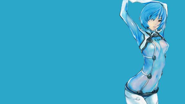 Water Digital Art - Neon Genesis Evangelion by Maye Loeser