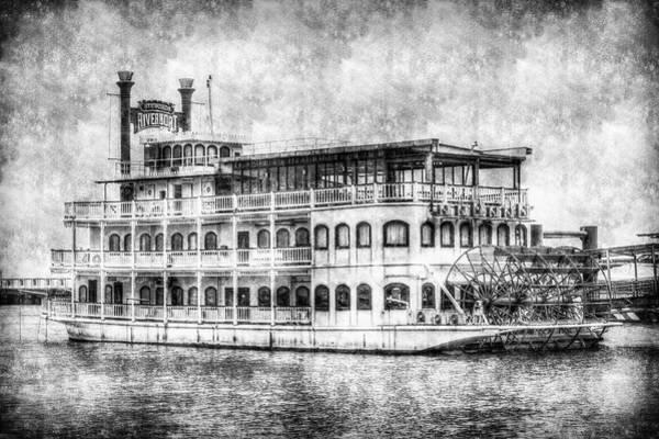 Wall Art - Photograph - New Orleans Paddle Steamer Vintage by David Pyatt