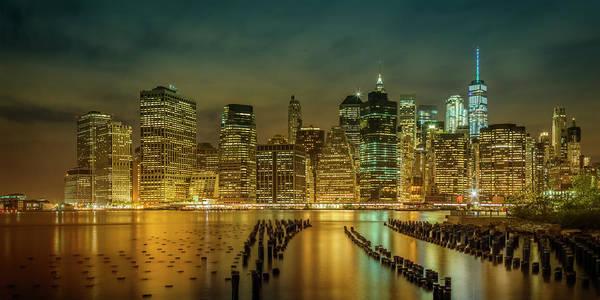 Wall Art - Photograph - New York City Nightly Impressions - Panoramic by Melanie Viola