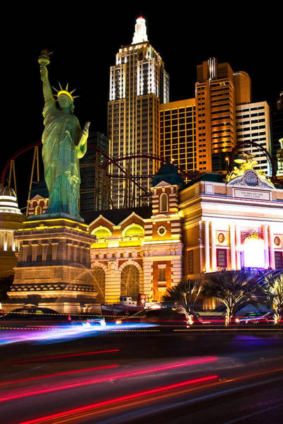 New York New York Casino Art Print by James Marvin Phelps