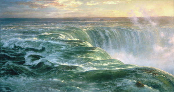 Horseshoes Painting - Niagara by Louis Remy Mignot