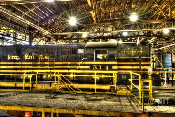 Photograph - Nickel Plate Engine In The Shop by Paul W Faust - Impressions of Light