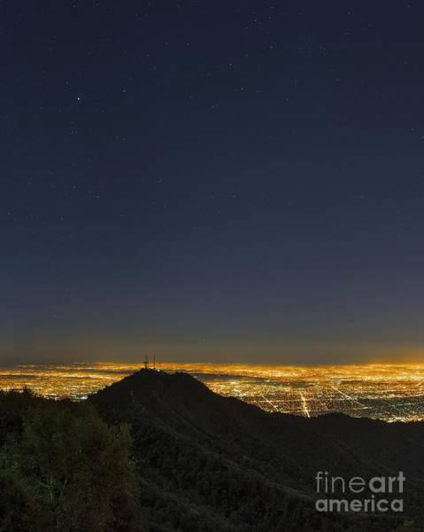 Mt. Wilson Photograph - Night Sky Above Los Angeles by Babak Tafreshi
