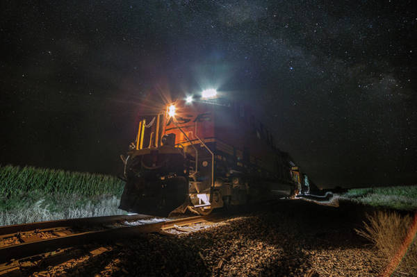 Middle Of Nowhere Photograph - Night Train  by Aaron J Groen