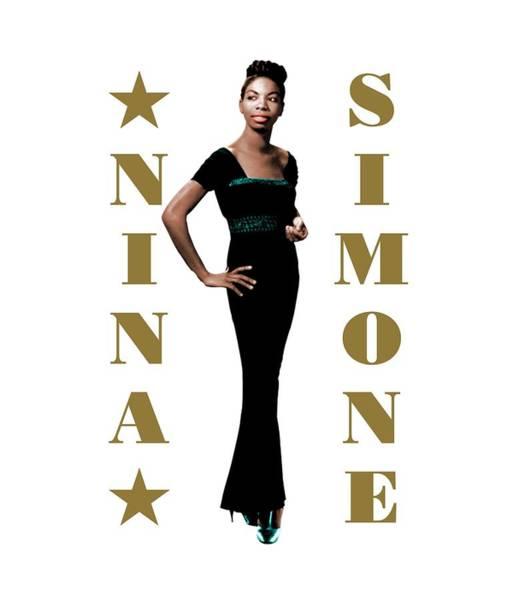 Wall Art - Digital Art - Nina Simone by David Richardson