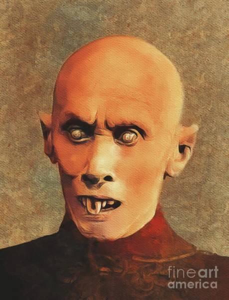 Horror Film Painting - Nosferatu by Mary Bassett