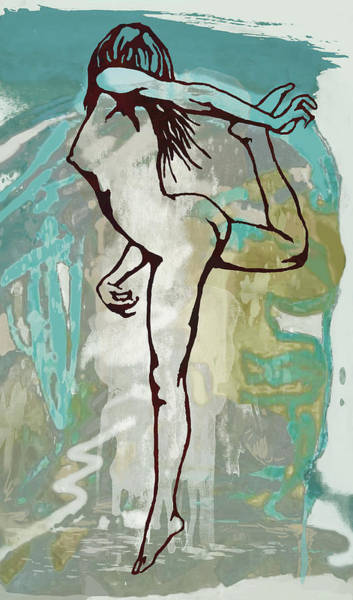 Wall Art - Mixed Media - Nude - Pop Art Etching Poster  by Kim Wang