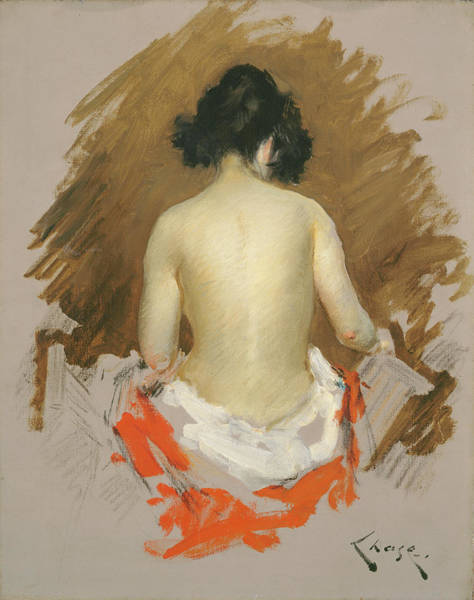 Painting - Nude by William Merritt Chase