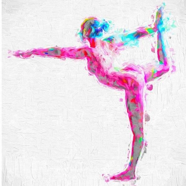 @nude_yogagirl #nudeyogagirl Art Print