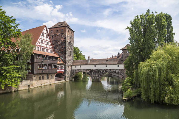 Wall Art - Photograph - Nuremberg View From Maxbridge To Hangmans Bridge by Melanie Viola