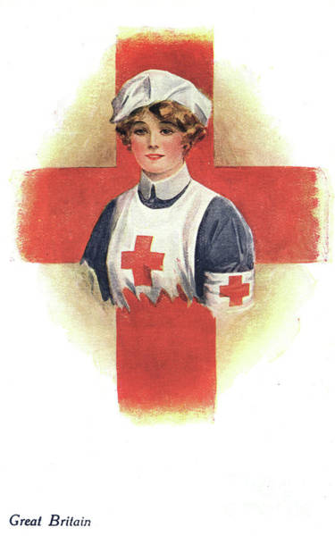 Drawing - Nurse, C1914  - To License For Professional Use Visit Granger.com by Granger