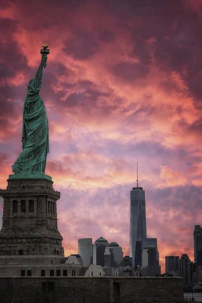 Lady Liberty Photograph - NYC by Martin Newman