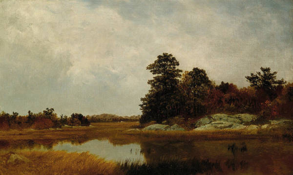 Painting - October In The Marshes by John Frederick Kensett