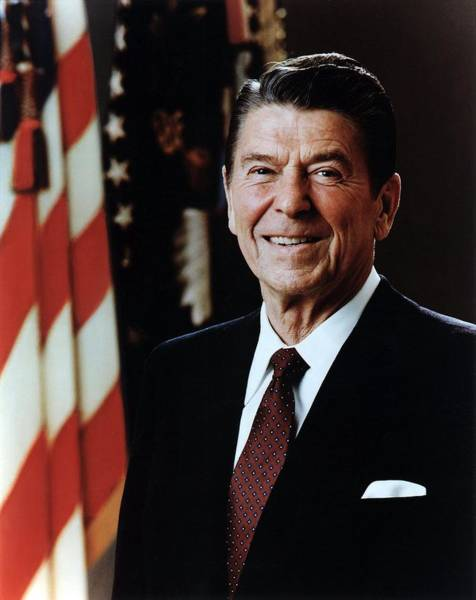 Republican Photograph - Official Portrait Of President Reagan by Everett