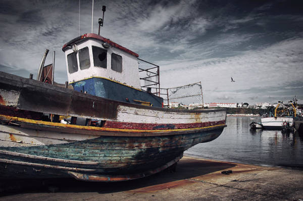 Dry Dock Photograph - Old Fishing Boat by Carlos Caetano