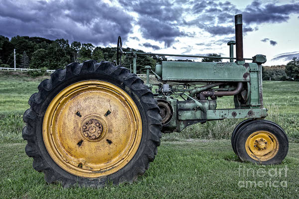 Wall Art - Photograph - Old Green Tractor 2 by Edward Fielding
