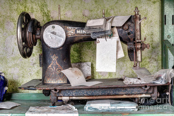 Wall Art - Photograph - Old Sewing Machine by Michal Boubin