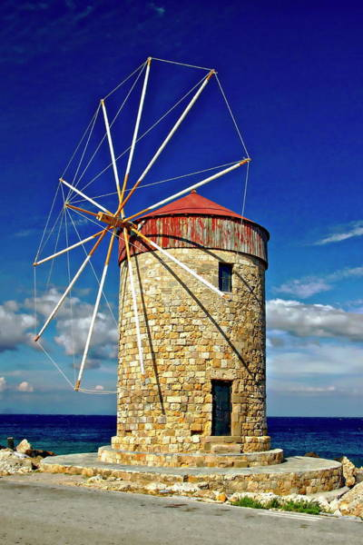 Photograph - Old World Windmill by Anthony Dezenzio
