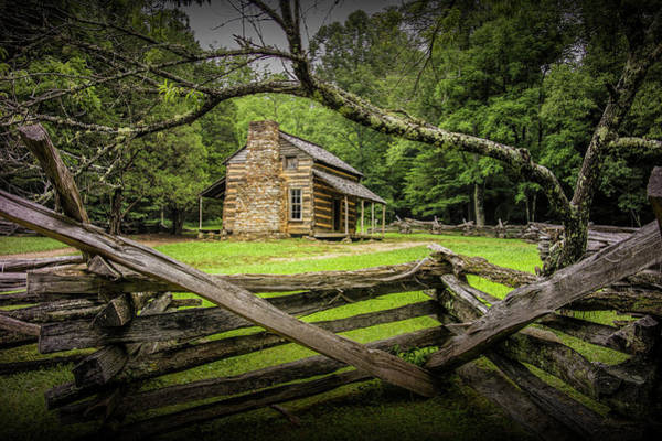 Photograph - Oliver Cabin In Cade's Cove by Randall Nyhof
