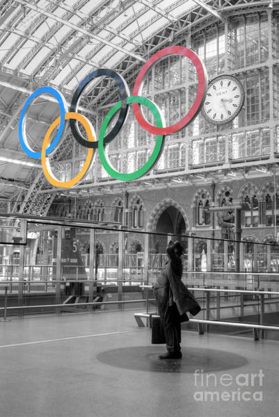 Photograph - Olympic Emblem In London by David Birchall