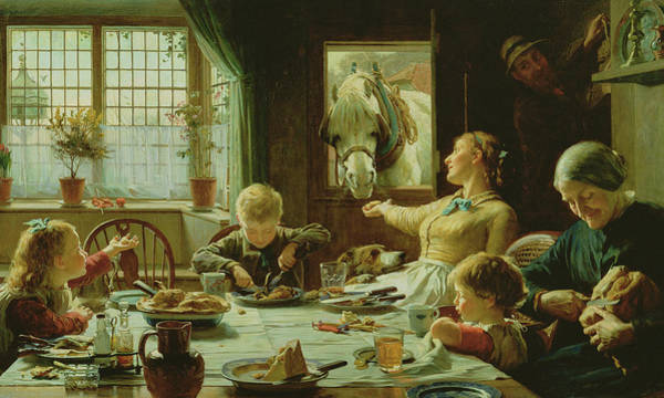 White Horse Wall Art - Painting - One Of The Family by Frederick George Cotman