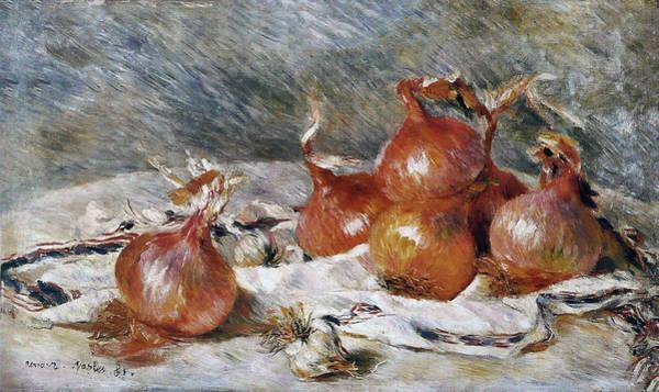 Painting - Onions by Pierre-Auguste Renoir
