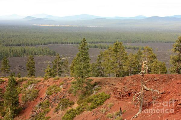 Oregon Ridge Photograph - Oregon Landscape - View From Lava Butte by Carol Groenen