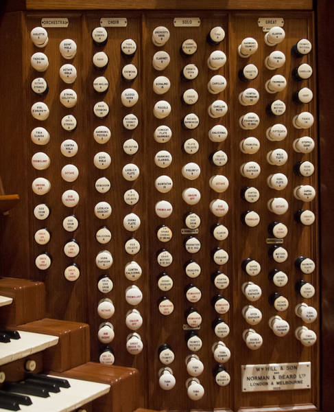 Photograph - Organ Stops by Jenny Setchell