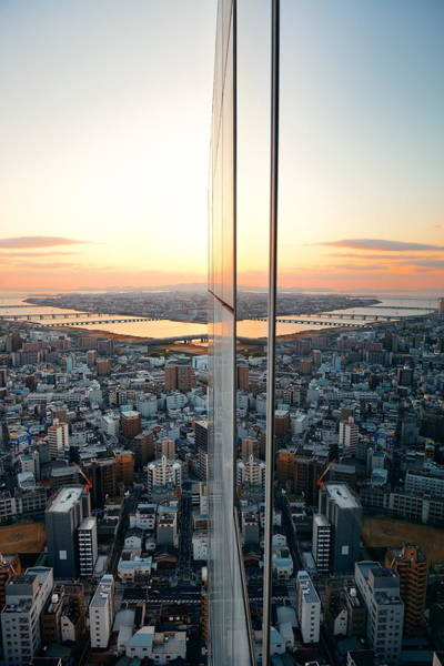 Photograph - Osaka Rooftop View by Songquan Deng