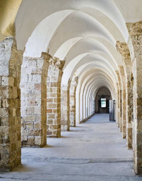 Crumble Photograph - Ottoman-style Arched Corridor by Noam Armonn