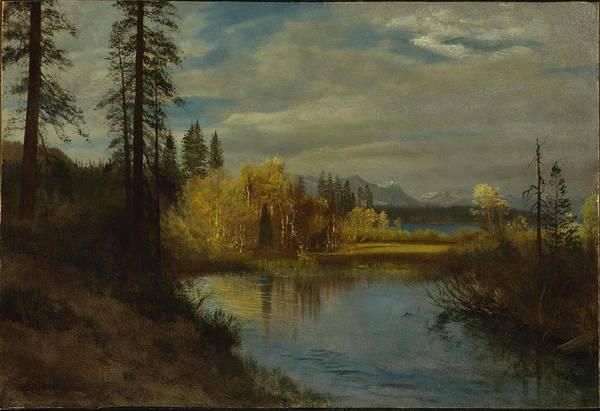 Painting - Outlet At Lake Tahoe by Albert Bierstadt