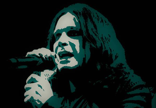 Prince Of Darkness Digital Art - Ozzy Osbourne by Michael Bergman