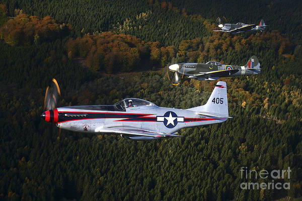Interceptor Photograph - P-51 Cavalier Mustang With Supermarine by Daniel Karlsson