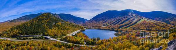 Photograph - Panoramic View Of Franconia Notch. by New England Photography
