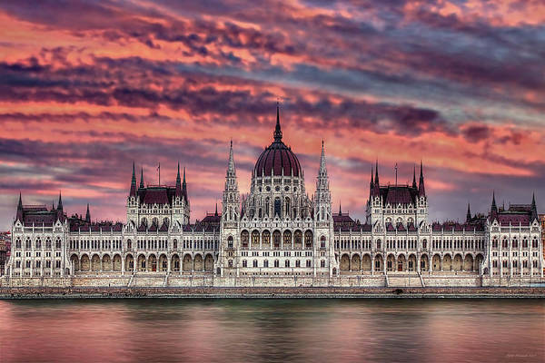 Photograph - Pink Parliament by Peter Kennett