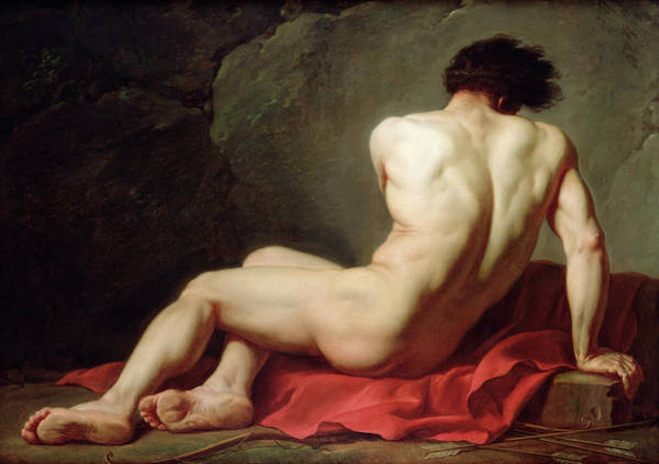 Accident Painting - Patroclus by Jacques-Louis David