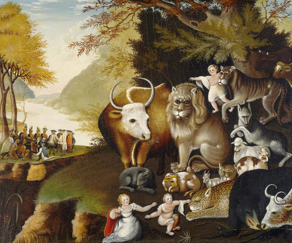 Painting - Peaceable Kingdom by Edward Hicks