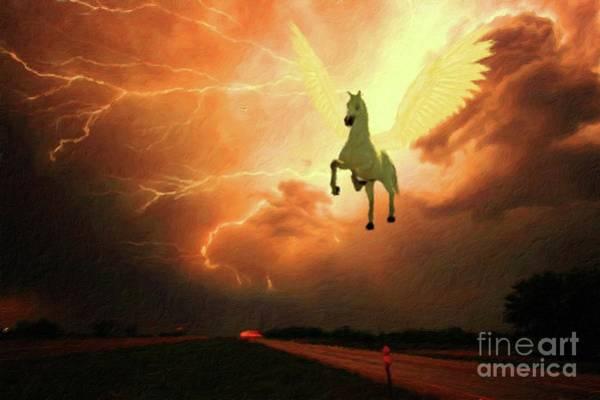 Pegasus By Mary Bassett Art Print