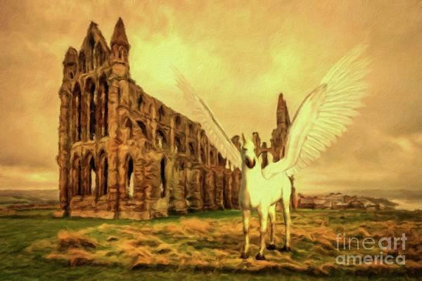 Wall Art - Painting - Pegasus Vision by Mary Bassett